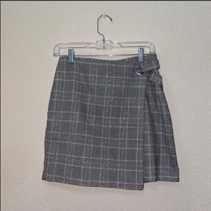 H&M Plaid Size 10 Mini Skirt Wrap Style